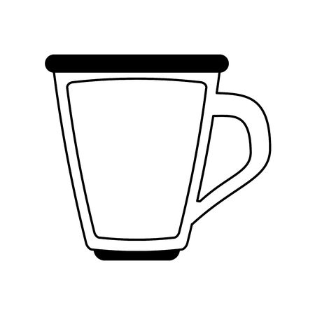 thirsty: glass cup with beverage icon image vector illustration design  black line Illustration