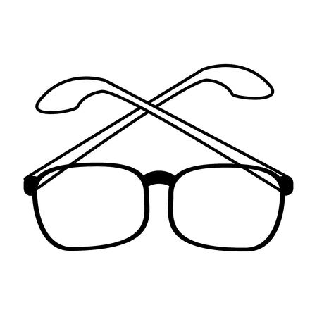 assortment: glasses frame icon image vector illustration design  black line Illustration