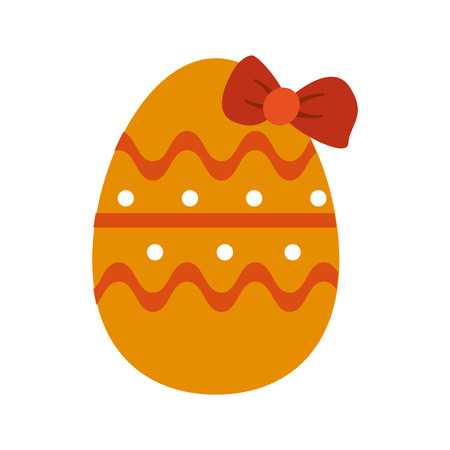 decorated egg easter related icon image vector illustration design