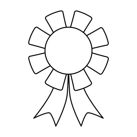winner badge icon image vector illustration design  black line