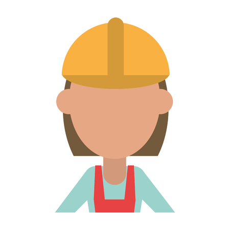 female engineer construction or factory worker wearing overall avatar icon image vector illustration design Illustration