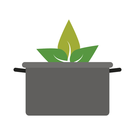 prepare: pot cooking vegetables icon image vector illustration design