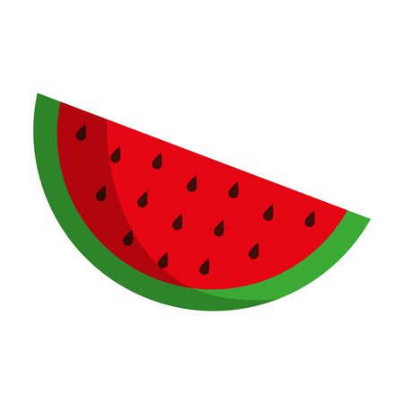 market gardening: watermelon fruit icon image vector illustration design