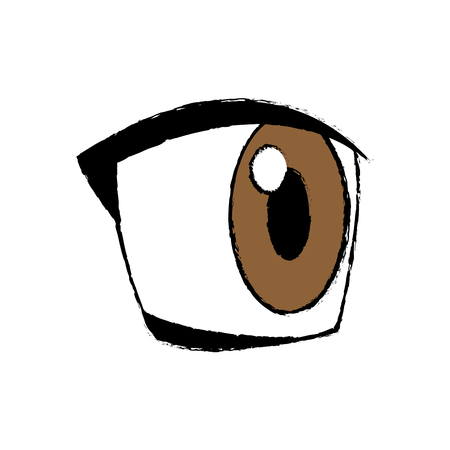 amazed: comic eye looking expression vision vector illustration