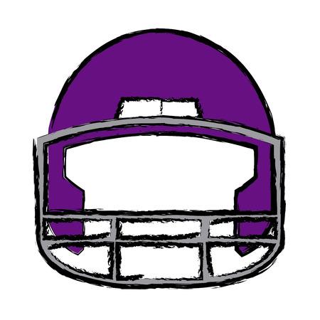 tough: american football helmet equipment protection vector illustration