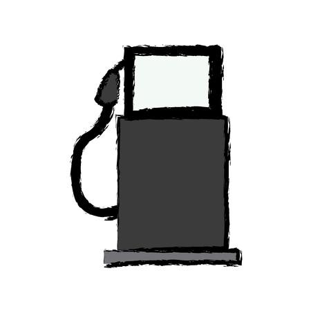 gasoline pump station full ecological image vector illustration Illustration