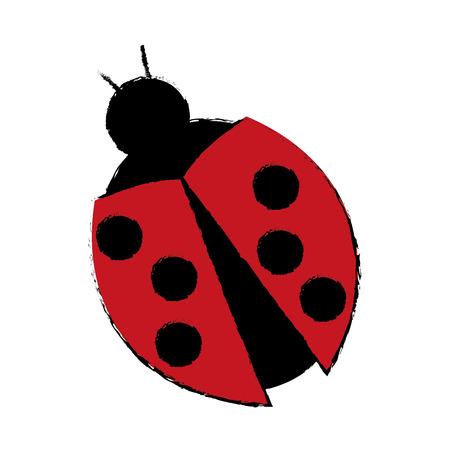 barbed: ladybug virus technology system security concept vector illustration