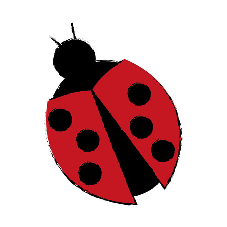 ladybug virus technology system security concept vector illustration