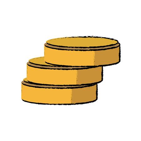 database server information storage disk symbol vector illustration