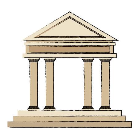 single word: building bank financial business concept vector illustration Illustration