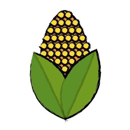 corn alternative energy ethanol vector illustration