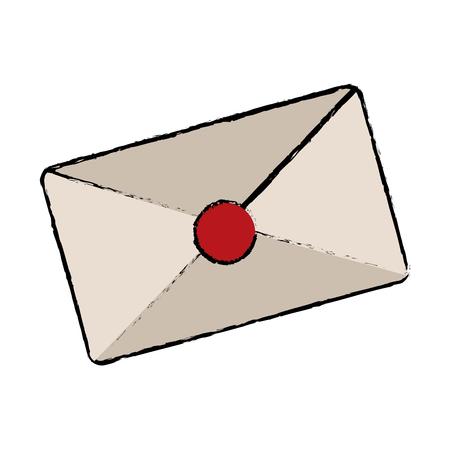 enveloppe, courrier, correspondance correspondance, entreprise, vecteur, illustration
