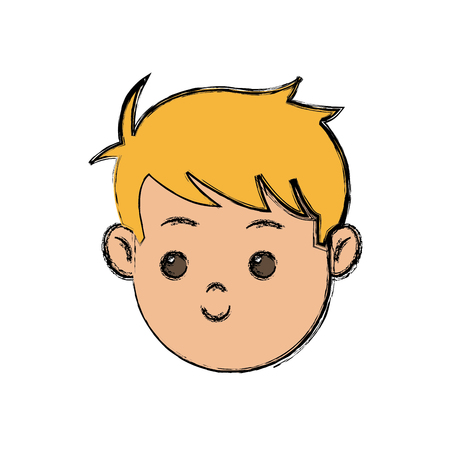 schoolkids: cute young boy kid smile character school child vector illustration