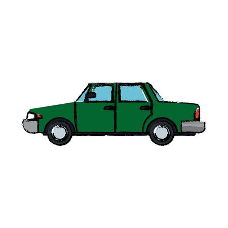 sedan car vehicle transport contemporary vector illustration Illustration