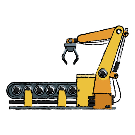 automated: computer controlled automated manufacturing process industrial vector illustration