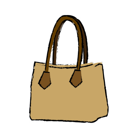 drawing handbag elegant fashion female vector illustration