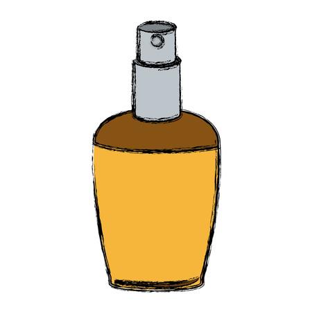 elegant female perfume glamour aroma container vector illustration