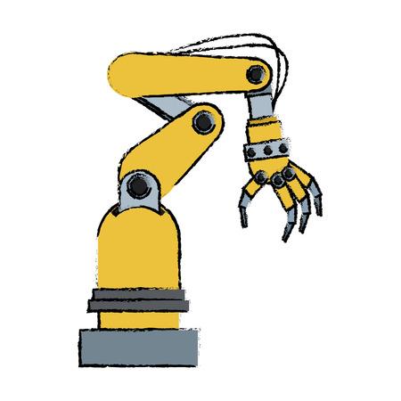 bionic: artificial arm machine technology futuristic innovation vector illustration Illustration