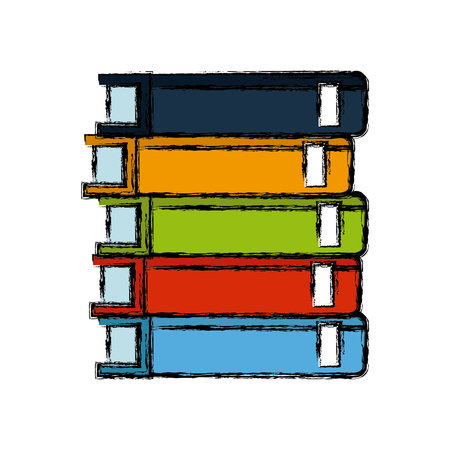 stack books library literature learning vector illustration