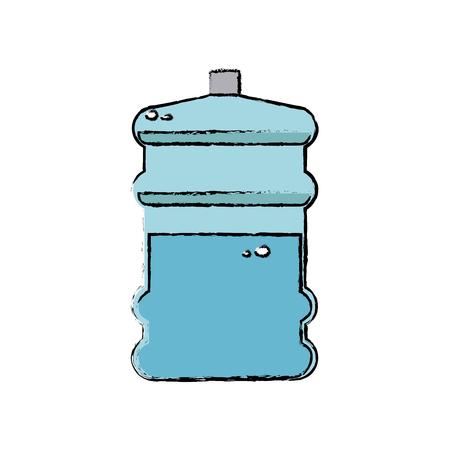 water bottle big plastic dispenser vector illustration