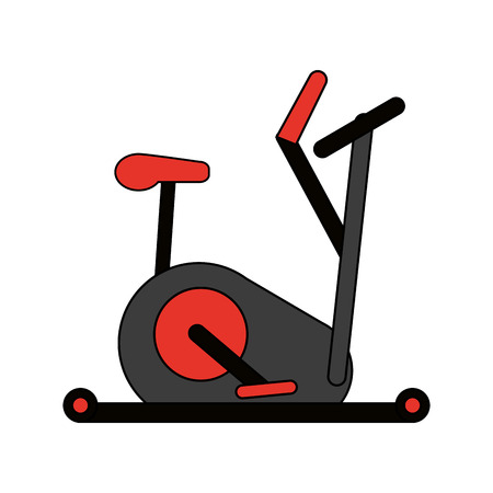 Black and red elliptical over white background vector illustration Illustration