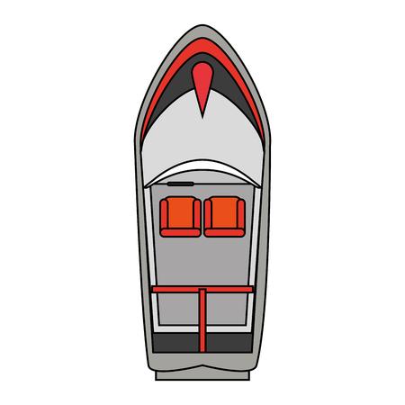 白い背景のベクトル図を上から見たボート  イラスト・ベクター素材