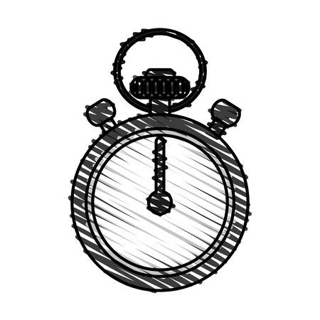 interval: Stopwatch doodle over white background vector illustration Illustration