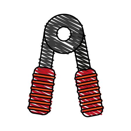 Handgrip doodle over white background vector illustration