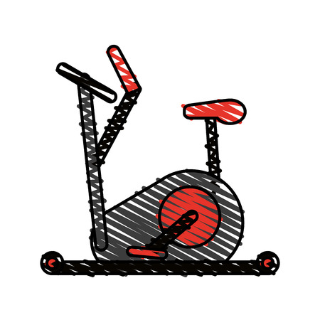 Elliptical doodle over white background vector illustration