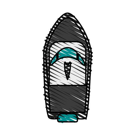 Bateau, doodle, sur, blanc, fond, vecteur, Illustration Banque d'images - 81016579