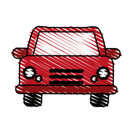 doodle car over white background vector illustration icon