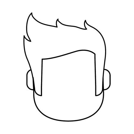 faceless man avatar icon image vector illustration design  black line