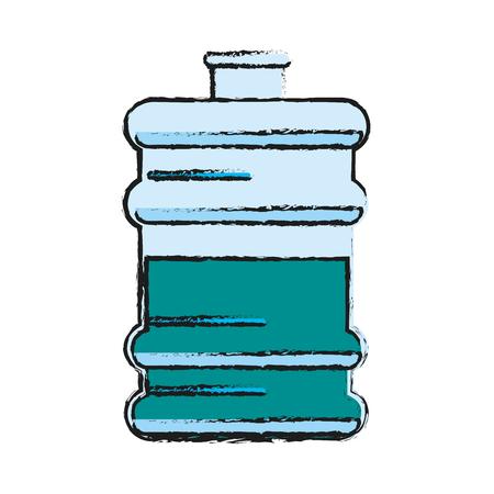 office water cooler bottle icon image vector illustration design