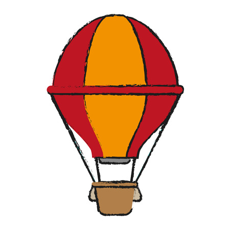 hot air balloon icon image vector illustration design