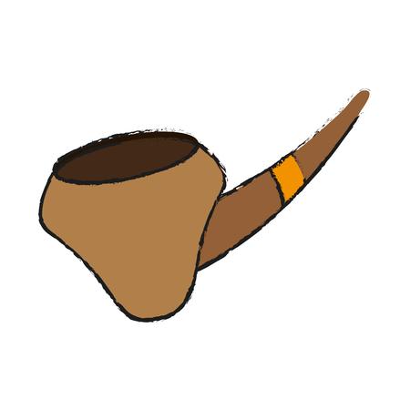 smoking pipe  icon image vector illustration design