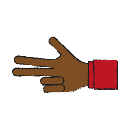 hand counting with three fingers out icon image vector illustration design Illustration