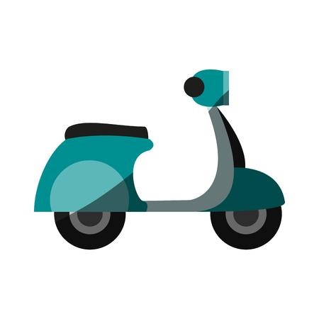 스쿠터 자전거 아이콘 이미지 벡터 일러스트 레이 션 디자인