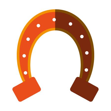 isolated horseshoe icon image vector illustration design  Illustration