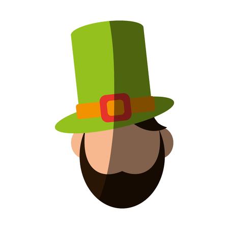 st  patrick's day: leprechaun avatar saint patricks day related icon image vector illustration design Illustration
