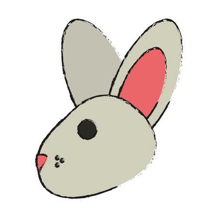 cartoon rabbit or bunny icon image vector illustration design Illustration