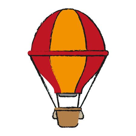 drift: hot air balloon icon image vector illustration design