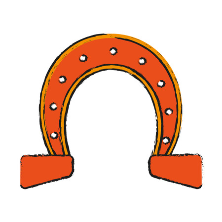 isolated horseshoe icon image vector illustration design