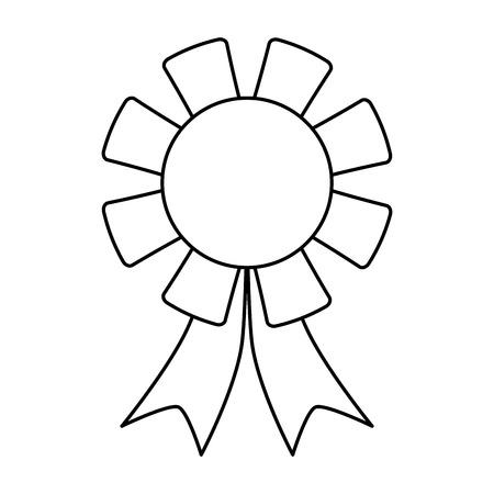 incentive: winner badge icon image vector illustration design  black line