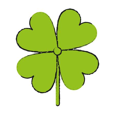 st  patrick's day: shamrock or clover leaf saint patricks day related icon image vector illustration design Illustration