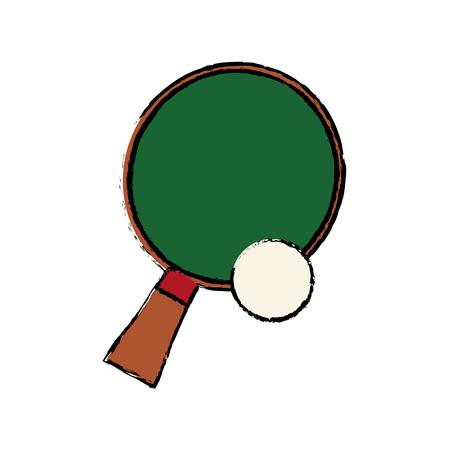 racket and ball ping pong play vector illustration Illustration