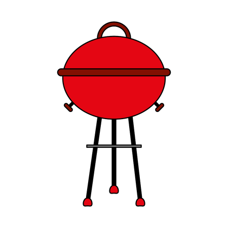 barbecue roaster over white background vector illustration