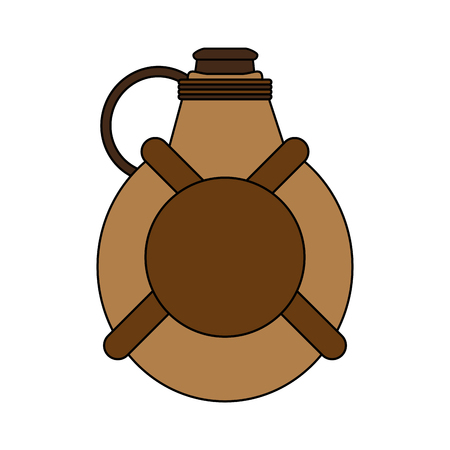thirsty: Water canteen over white background vector illustration Illustration