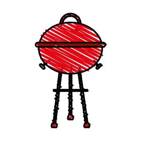 browning: roaster doodle over white background vector illustration