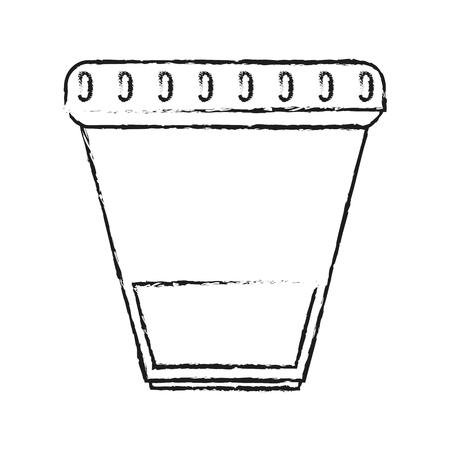 소변 샘플 컵 의료 관련 아이콘 이미지 벡터 일러스트 무승부 일러스트