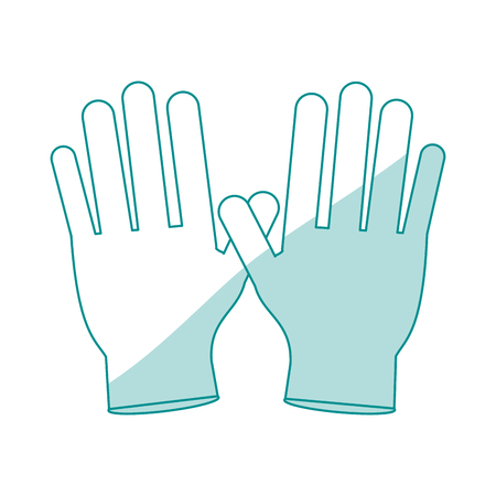 insured: Gloves healthcare related icon image vector illustration design Illustration